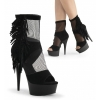 DELIGHT-1014 Black Suede/Mesh
